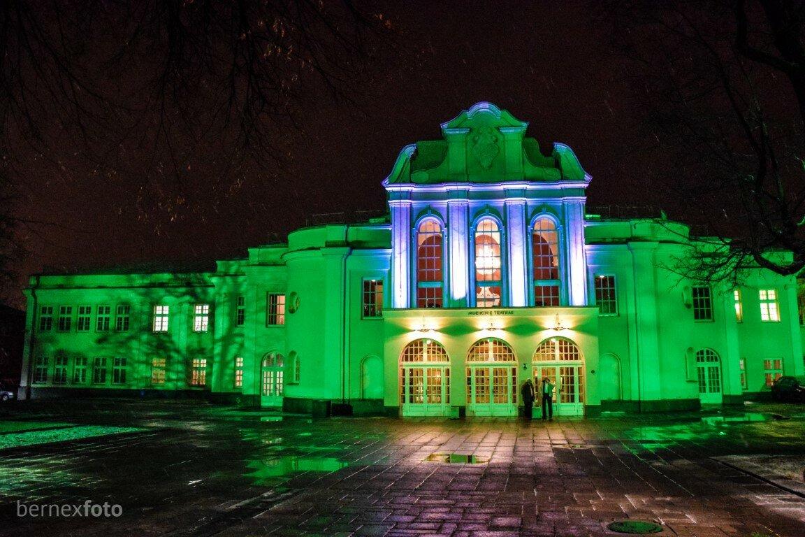 Apšviestas Kauno muzikinis teatras