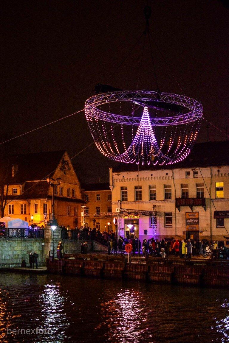 """Sietynas virš Danės upės - """"Klaipėdos šviesų festivalis 2020"""""""