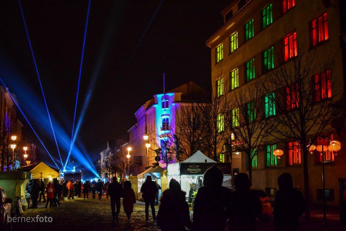 """Turgaus g. instaliacija - """"Klaipėdos šviesų festivalis 2020"""""""
