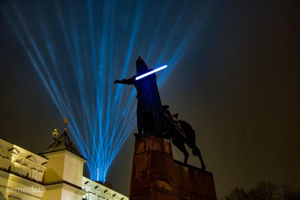 Gediminas šviesų apsuptyje - Vilniaus gimtadienis 2021