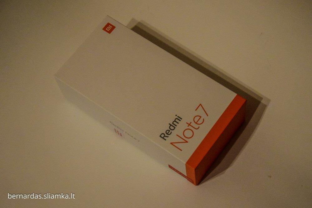 Redmi Note 7 dėžutė