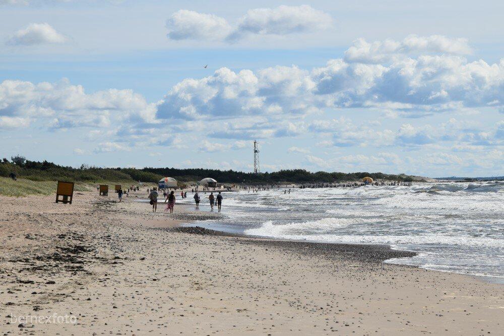 Šventosios šiaurinį pliažą paliekant už nugarų...