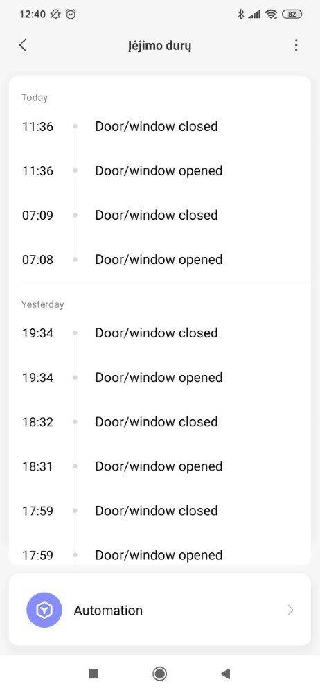 Durų atidarymo bei uždarymo istorijos peržiūra