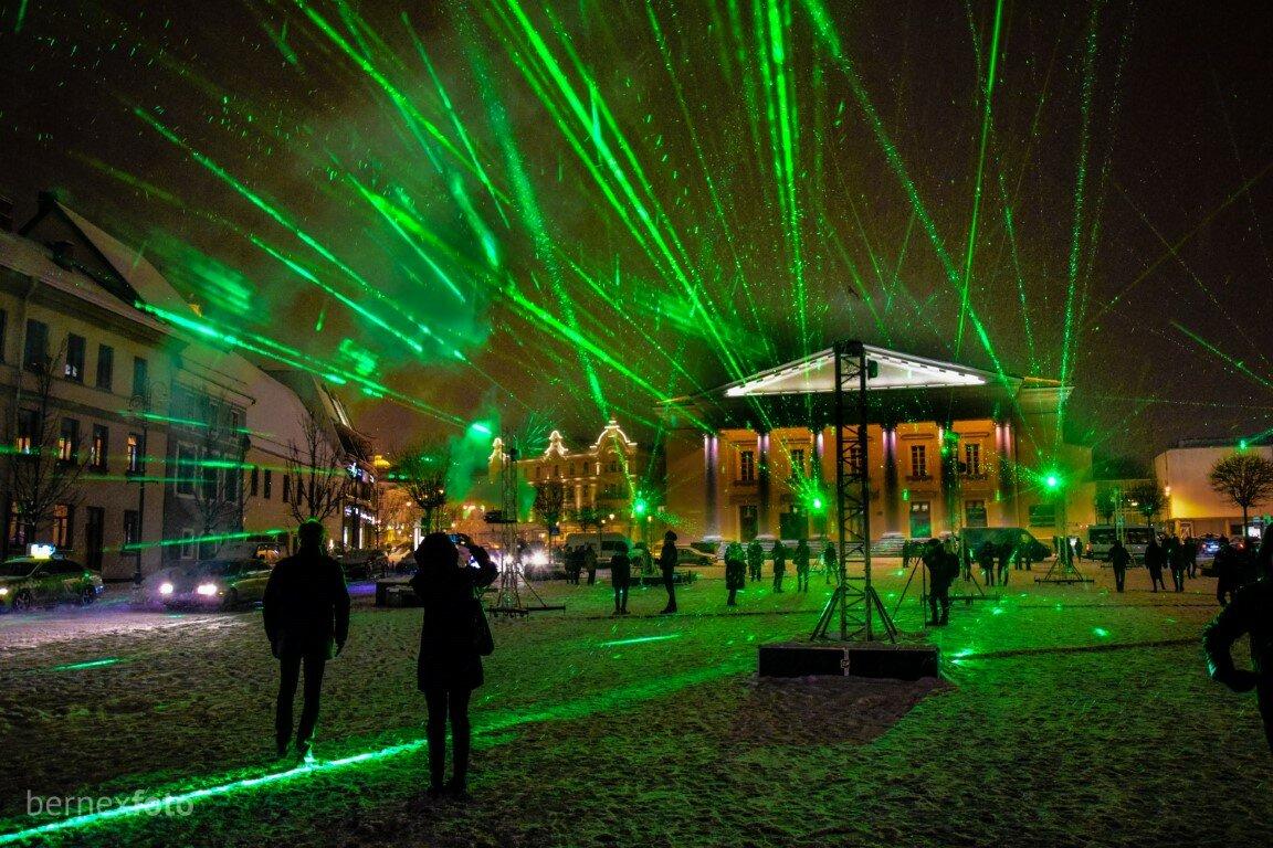 """""""Lazerių miškas"""" - Vilniaus šviesų festivalis 2019"""