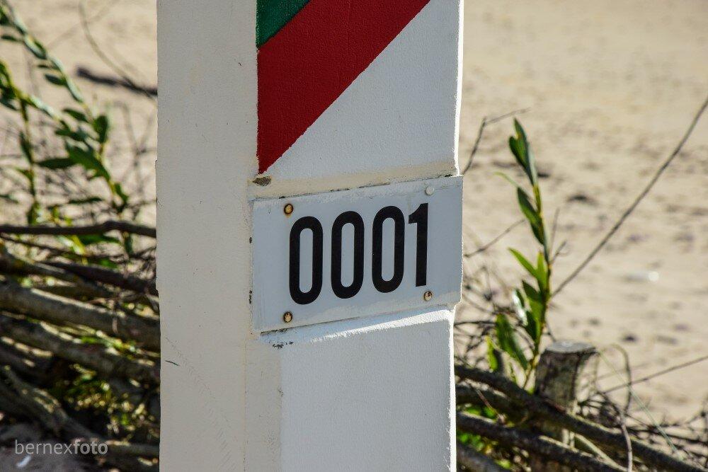 Nuo čia prasideda žymėjimas, besitęsiantis palei visą sieną su Latvija